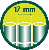 17 mm Tamaño de las lamas
