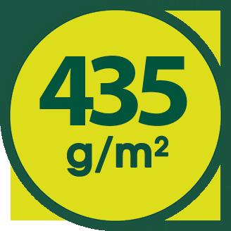 435 g/m2