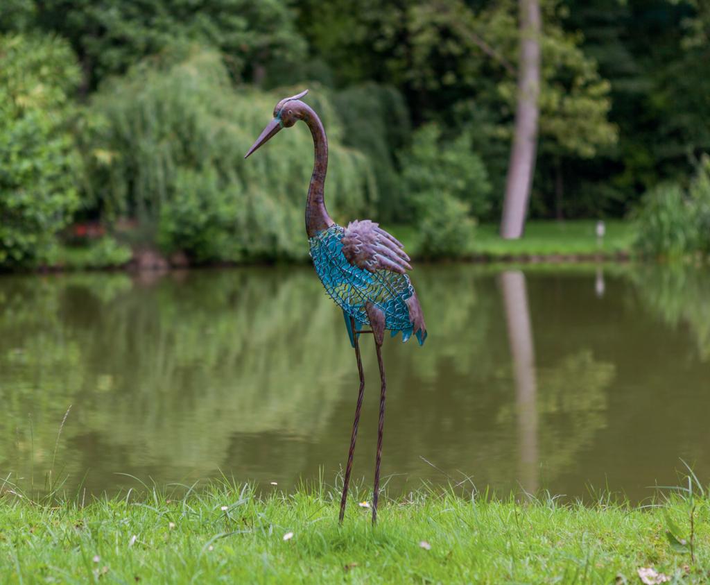 Heron h ron figuratif poser pr s d 39 un bassin nortene for Sujet decoratif pour jardin